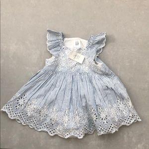 NWT 3-6 month baby gap Flower eyelet dress